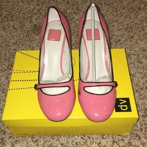 DV Patent Baby Doll Betty Pump in Coral 8.5